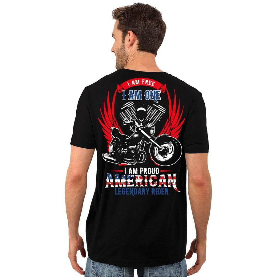 I am Proud American Legendary Rider T-Shirt & Hoodies