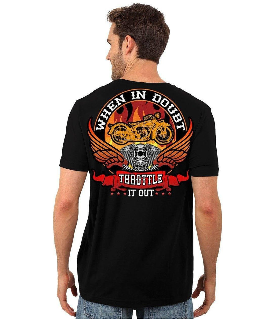 When In Doubt Throttle It Out T-Shirt - American Legend Rider