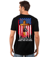 Veterans Day T-Shirt - Stand For The Flag, Kneel For The Cross T-Shirt, Cotton, Black