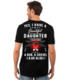 I Have A Beautiful Daughter T-Shirt, Cotton, Black