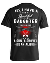 Men's I Have A Beautiful Daughter T-shirts & Hoodies (Black, Cotton, Polyester, S-6XL)