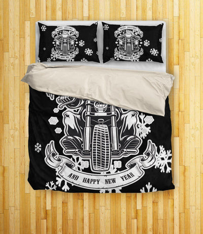Santa Biker Bedding Set