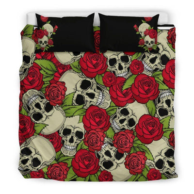 Skull & Roses Bedding Set, Polyester, Twin/Queen/King Size - American Legend Rider