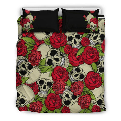 Rose Skull Bedding Set