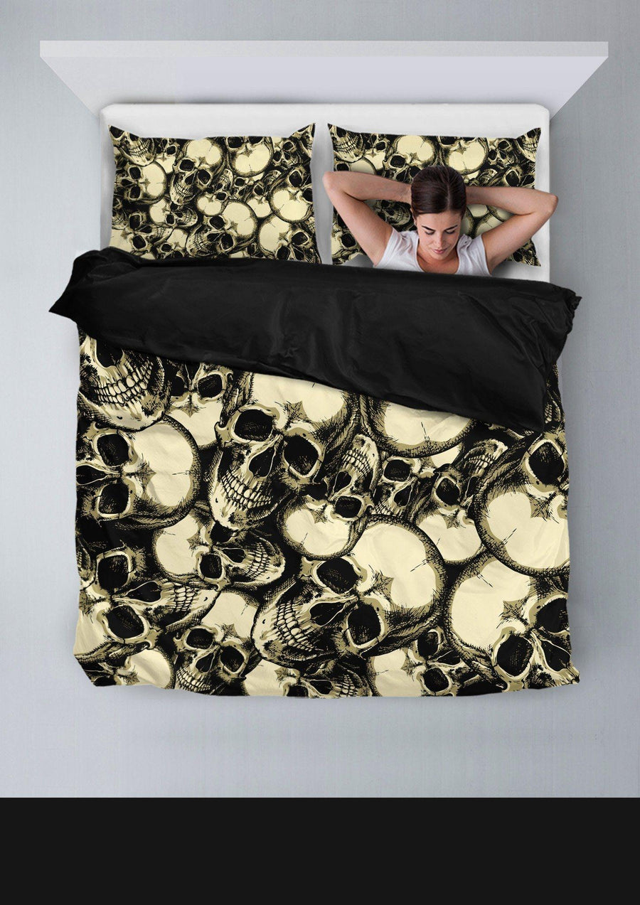 Handrawn Skull Bedding Set - American Legend Rider