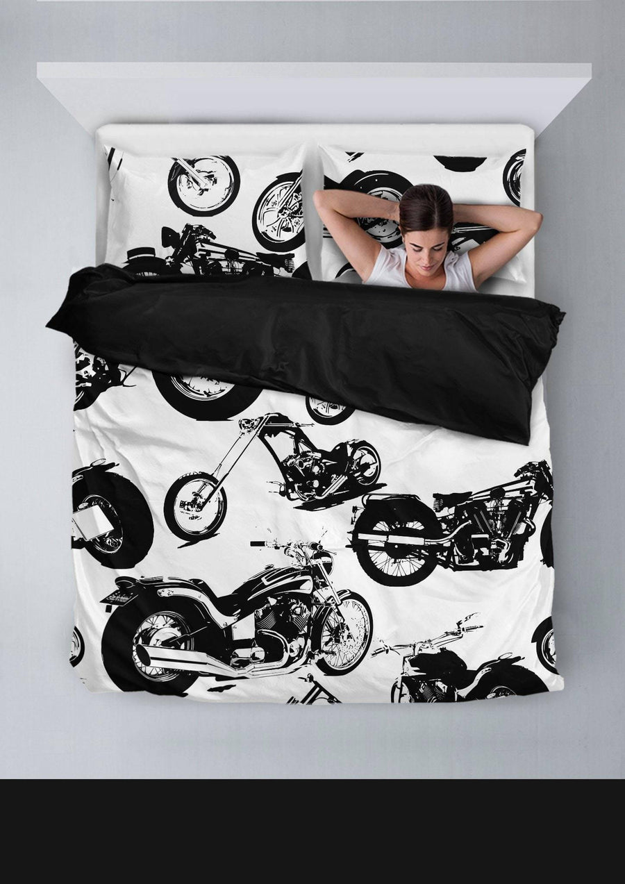 Seamless Motorbikes Bedding Set