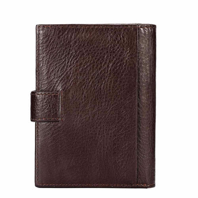 "Kavi's Classic Leather Wallet, Dimension 4""x5.5"", Black, Brown"