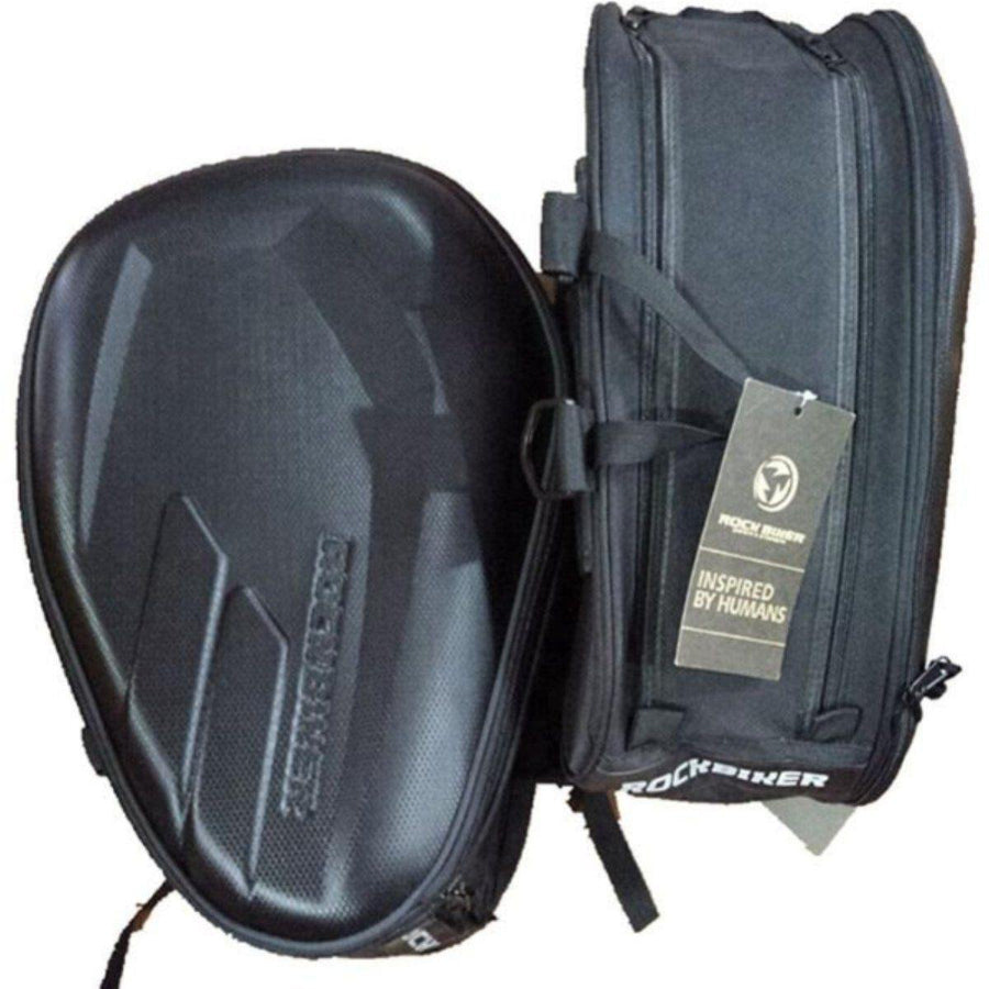 Motorcycle Saddle Bag, Waterproof, Black Oxford Cloth