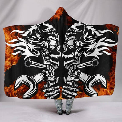 Guns & Fire Hooded Blanket