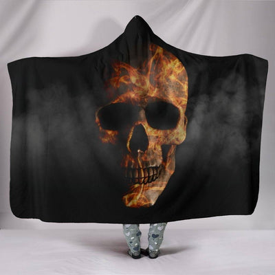Smoked Skull Hooded Blanket - American Legend Rider
