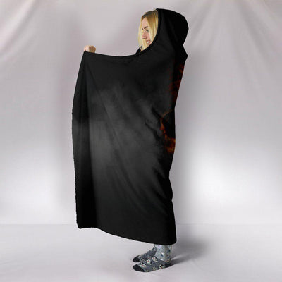 Smoked Skull Hooded Blanket