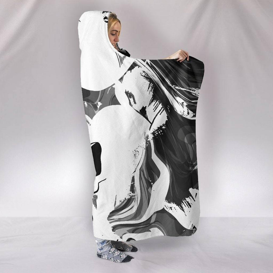 Swirly Skulls Hooded Blanket - American Legend Rider