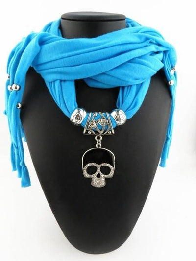 Fashion Skull Pendant Scarf