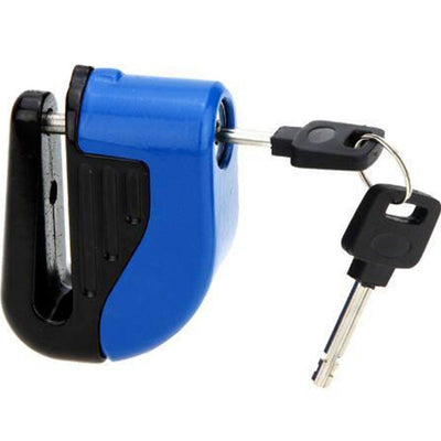 Motorcycle Alarm Disc Lock, 110dB Trigger Alarm, Stainless Steel/Zinc Alloy, Yellow, Blue, Gray, Orange, Black