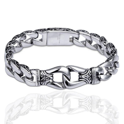 Stainless Steel Vintage Charm Bracelet for Bikers
