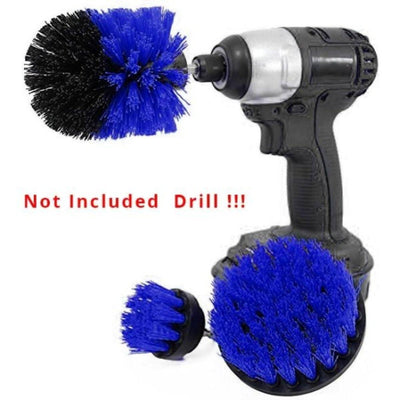 3Pcs/Set Drill Scrubber Brush