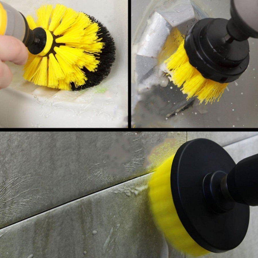 3Pcs/Set Drill Scrubber Brush All-Purpose Cleaner for Bathroom/Kitchen Surfaces - American Legend Rider