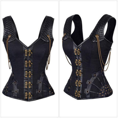 Vintage Leather Corset