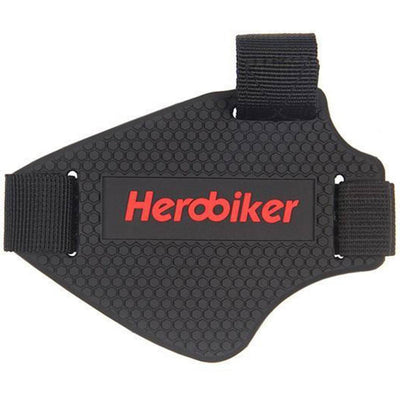 Herobiker Motorcycle Shift Pad, Wear-Resisting Rubber, One Size, Black