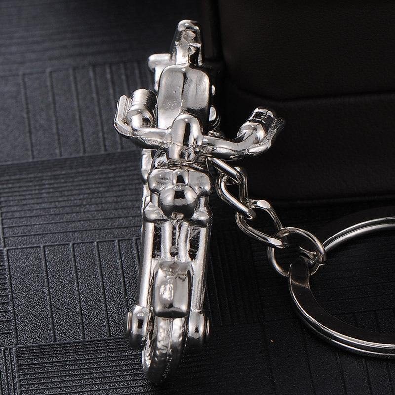 Motorcycle Silver Key Chain