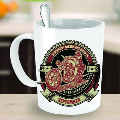 Bikers Born in September Mug - American Legend Rider