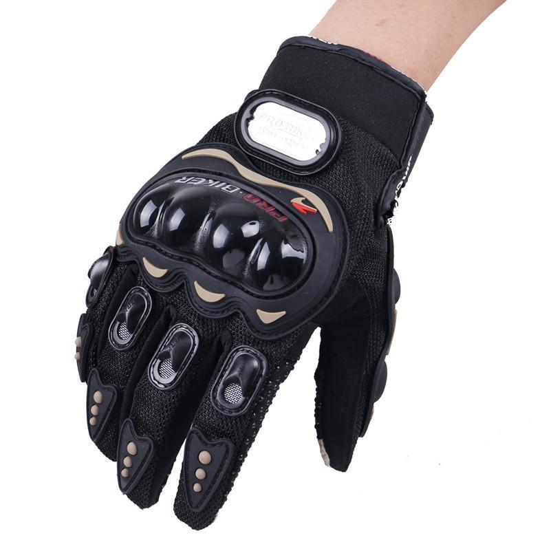 Men's Pro-Biker Waterproof Motorcycle Gloves, M-XXL, Black/Red/Blue