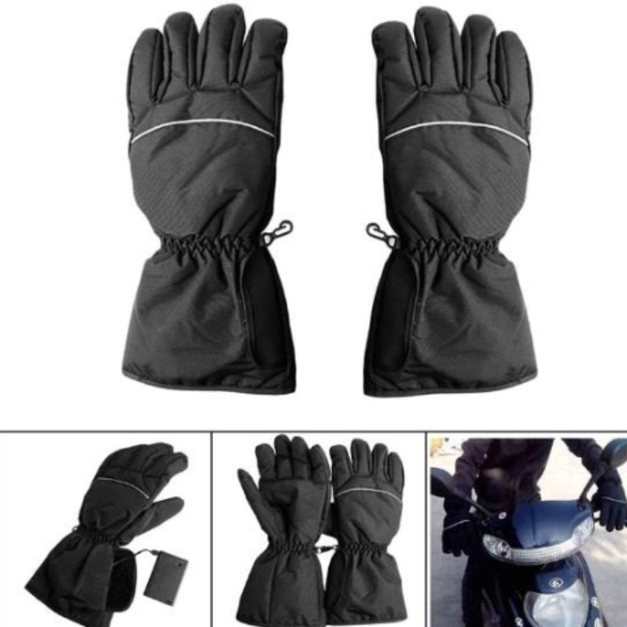 Motorcycle Waterproof Electronically Heated Gloves, Size M-L, Black - American Legend Rider