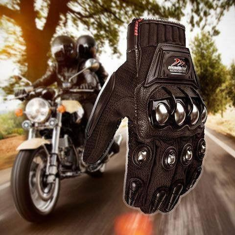 Madbike Motorcycle Gloves w/ Steel Alloy Nubs, Premium PU leather