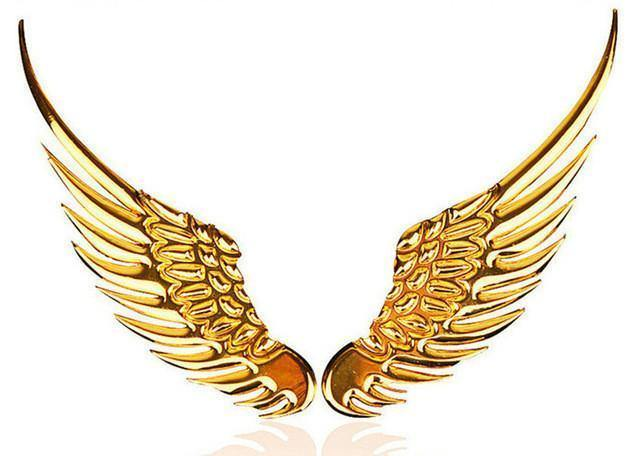 3D Metal Angel Wing Car Styling Decal Stickers - American Legend Rider