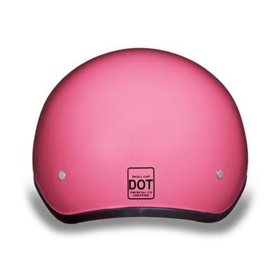 D.O.T Gloss Pink Cap Helmet with Visor