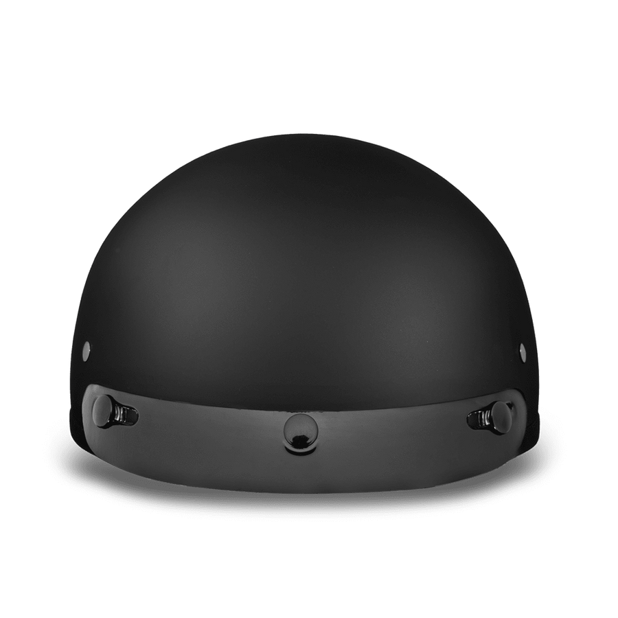 D.O.T Dull Black Cap Helmet with Visor