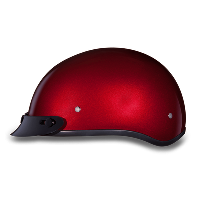 D.O.T Red Metallic Cap Helmet