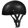 D.O.T Leather Covered Cap Helmet w/o Visor