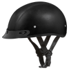 Daytona D.O.T Leather Covered Cap Helmet w/ Visor - American Legend Rider