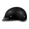 D.O.T Leather Covered Cap Helmet w/ Visor
