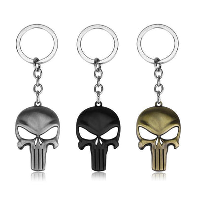 The Punisher Skull Keychain