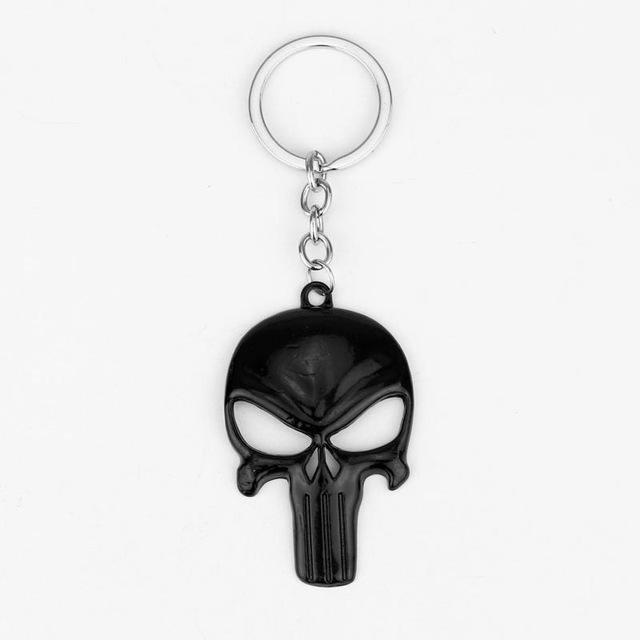 The Punisher Skull Keychain, Zinc Alloy, 1.6 x 2.4 in