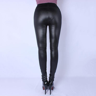 Plus Size Faux Leather Pants