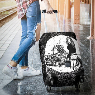 Girl Biker Luggage Cover