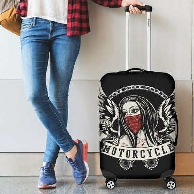 Girl Motorcycle Luggage Cover