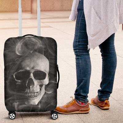 Smoked Skull Luggage Cover - American Legend Rider