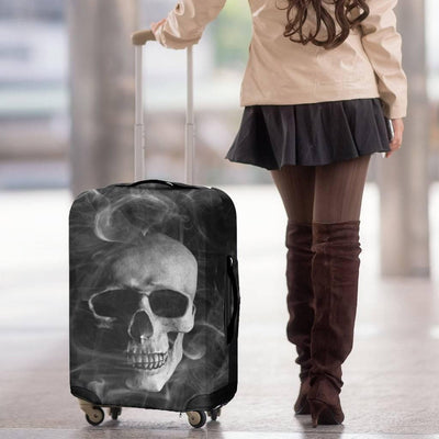 Smoked Skull Luggage Cover