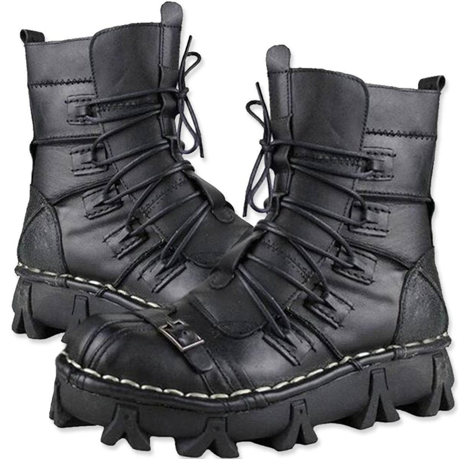 Handmade Leather Motorcycle Boots (upgraded Design)