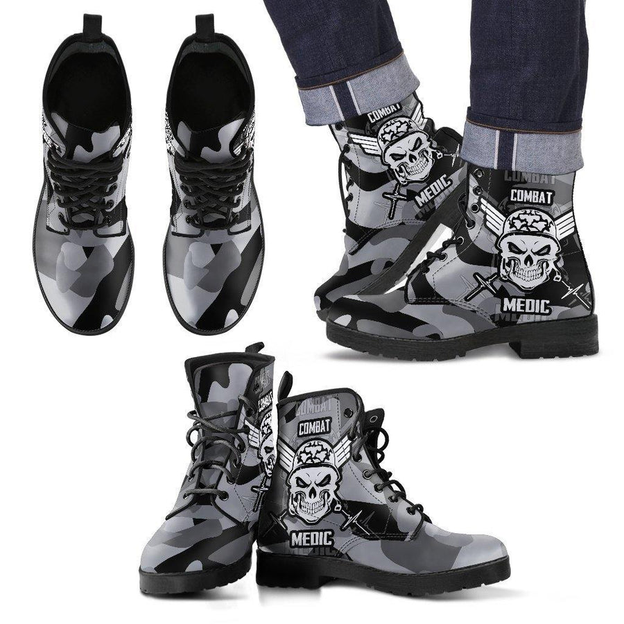 Badass Combat Medic Boots for Bikers