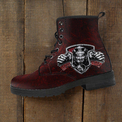 Devil Rider Boots for Men & Women, Eco-Friendly Leather, Red