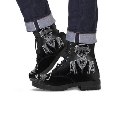 Edgy Punk Leather Boots