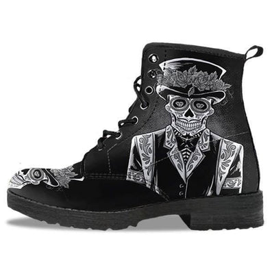 Edgy Punk Leather Motorcycle Boots