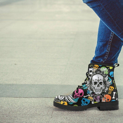 Colorful Punk Boots - American Legend Rider