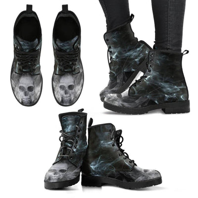 Smoked Skull Boots - American Legend Rider