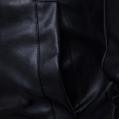 Turtleneck Leather Jacket